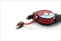 CHE-245-RE cheero 2in1 Retractable Cable POKEMON Ver. (Red)